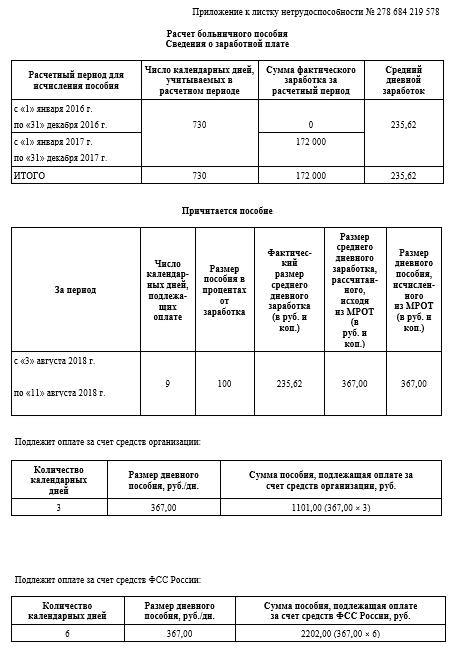 Сколько дней в году оплачивается больничный
