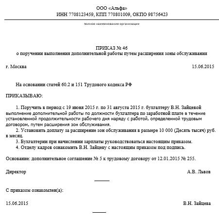 Кадровые документы: шаблоны и примеры заполнения