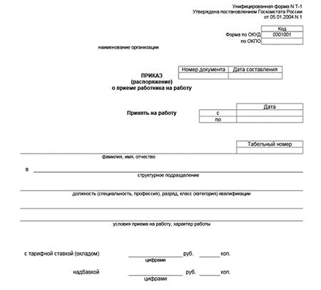 Унифицированная форма № Т-11а (образец заполнения).