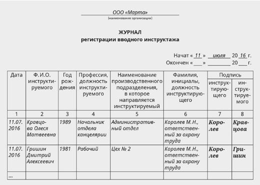 Программы инструктажей по охране труда