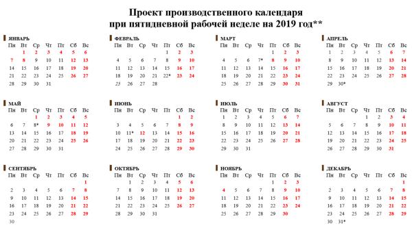 Календарь на 2019 год с праздниками и выходными - КалендарьГода новые фото