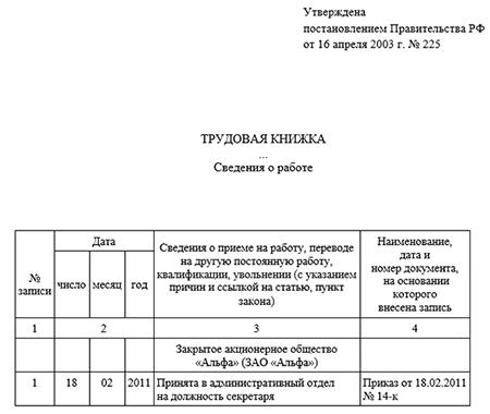 Заявление о приеме на работу образец заполнения в 2018