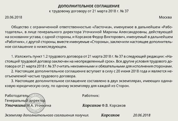 Типы трудовых договоров в россии трудовой договор Маршала Неделина улица