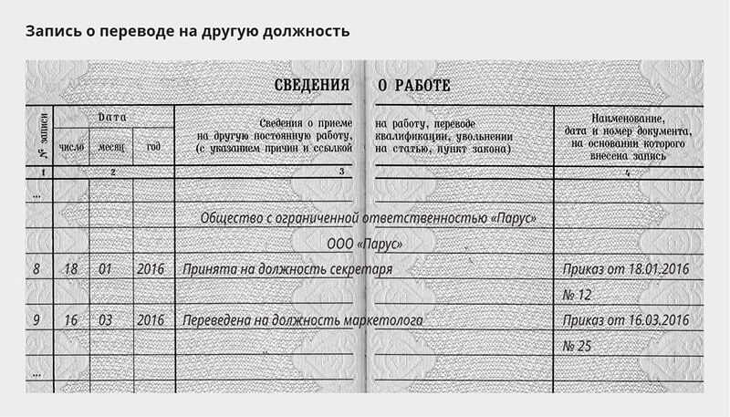 образец записи в трудовой о награждении нагрудным знаком
